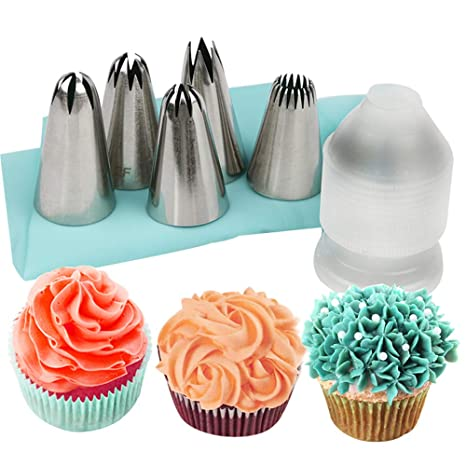 7pcs//set Icing Piping Nozzle Cake Decorating Tool Food Grade Steel For Cakes