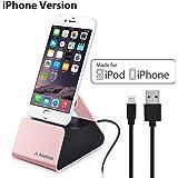 Avantree iPhone Dockingstation mit Apple MFi Lightning Kabel, Docking Station, Ladestation, Ladedock für iPhone X, iPhone 8, 8 Plus, 7, 6s, 6, iPod Touch [2 Jahre Garantie]