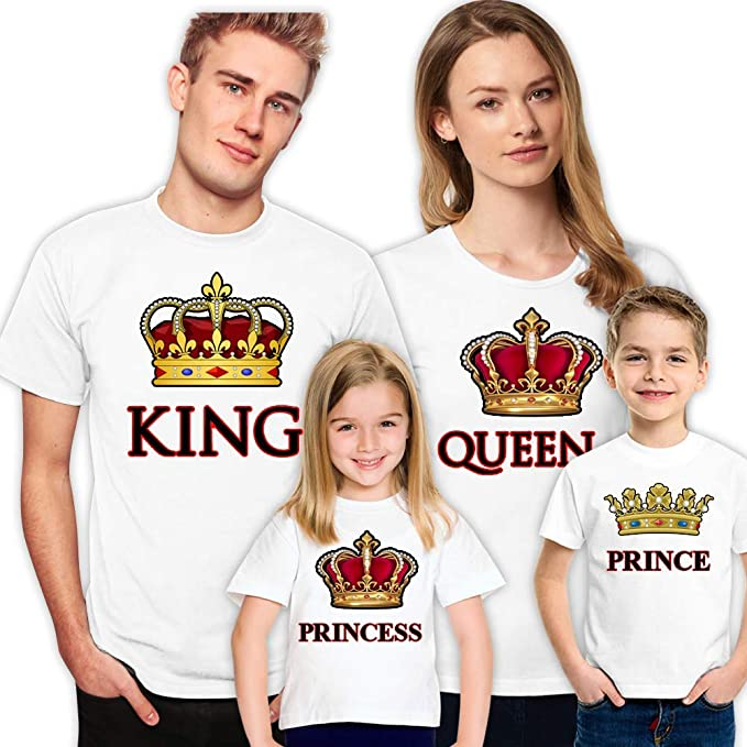 94de9fcf6 King Queen Prince Princess Family Shirts for Set Husband Wife Son Daughter  Kids (Daughter)