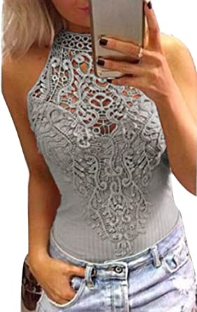 Minetom Mujeres Camiseta Primavera Manga Larga Color Sólido Blusa Elegante Ganchillo Del Cordon Camisa Atractivas Sin Tirantes T-shirt Tops: Amazon.es: Ropa y accesorios
