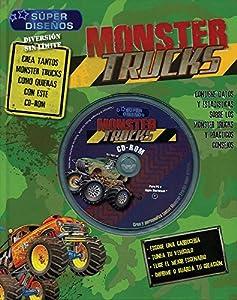 Paperback monster trucks c cd rom [Spanish] Book