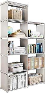 9 Storage Cubes, 4 Tire Shelving Bookcase Cabinet, DIY Closet Organizers