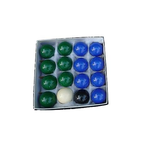 NOBRAND Set de 16 Bolas de Billar Snooker en Resina 2