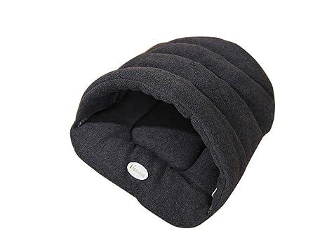 Happy FD - Iglú de peluche para mascotas, saco de dormir