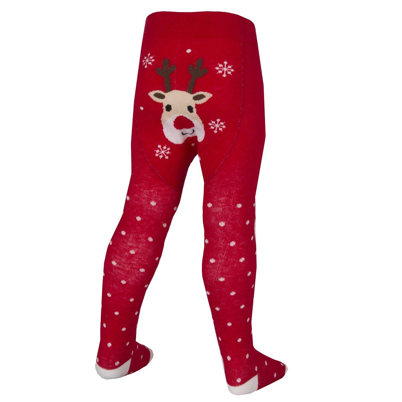 Tick Tock Strumpfhosen mit festlichem Design für kleine Mädchen, mit hohem Baumwollanteil