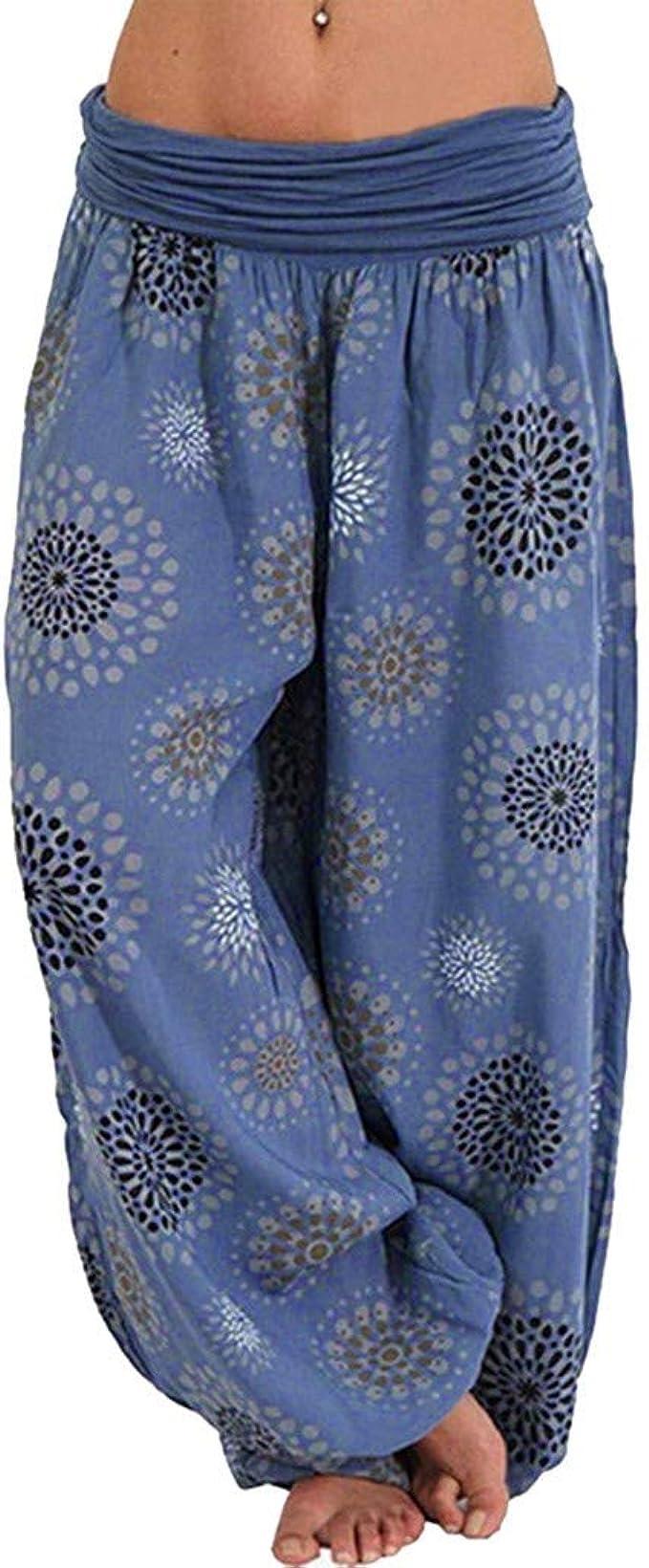 Adeliber Womens Pants Fashion Printing Bandwidth Loose Yoga Pants Womens Casual Sweatpants