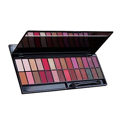 Amazon.com: Juego de paleta de sombras de ojos de 28 colores ...