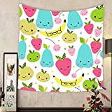 Carolyn J. Morin Custom tapestry seamless pattern with cute smiling fruits cute children pattern