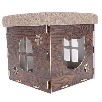Yunn Nido de Mascotas con Catnip: casa para Gatos con Cama para Gatos, Sala