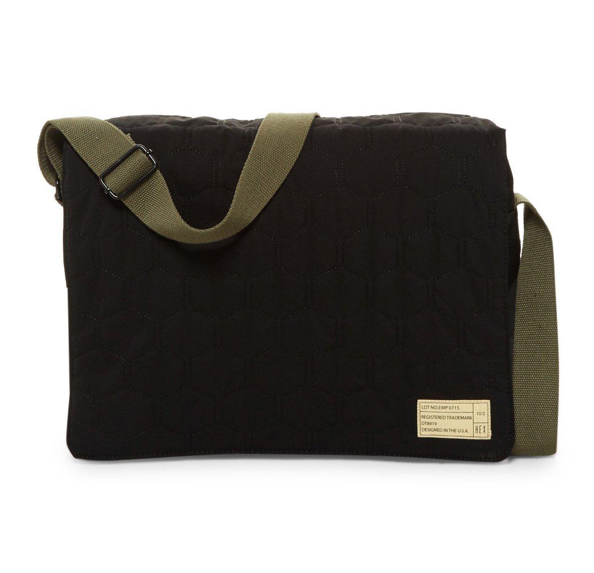 HEX Empire Messenger Bag for 13'' MacBook Pro & Laptops, Black Quilt