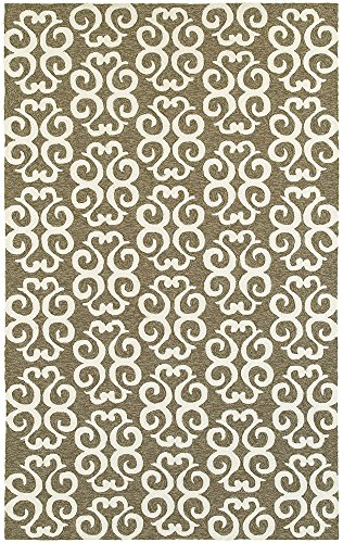 Tommy Bahama Atrium Brown/Ivory Area Rug (5'x8') - 5' x 8' (Outdoor Tommy Bahama Rugs)