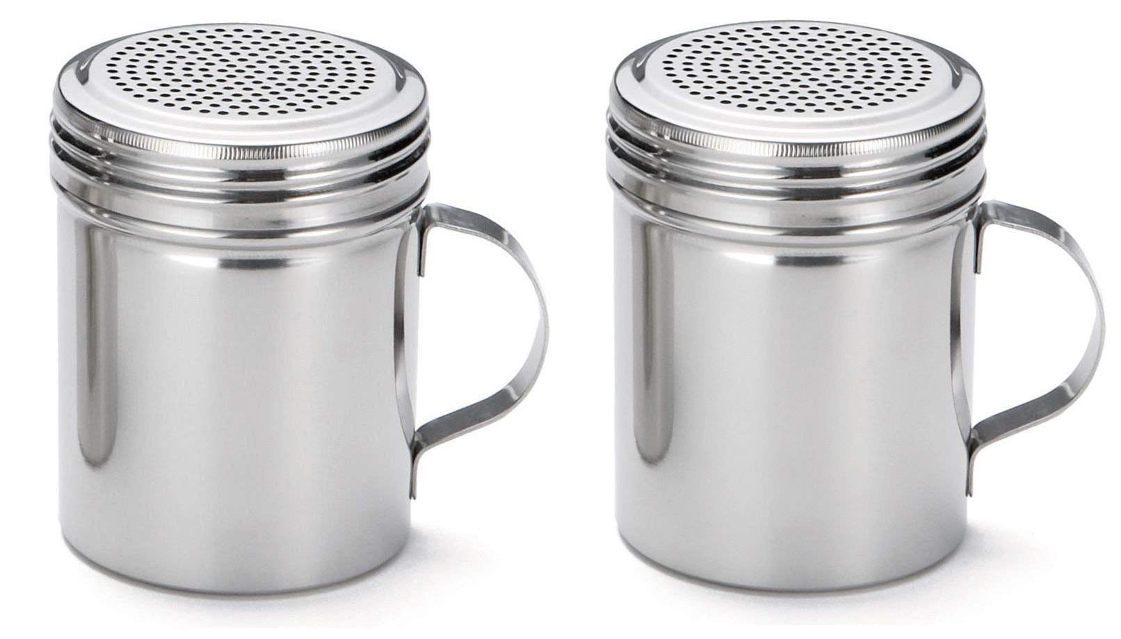 TableCraft (H159H) 10-Ounce Stainless Steel Dredge (Twо Pаck)