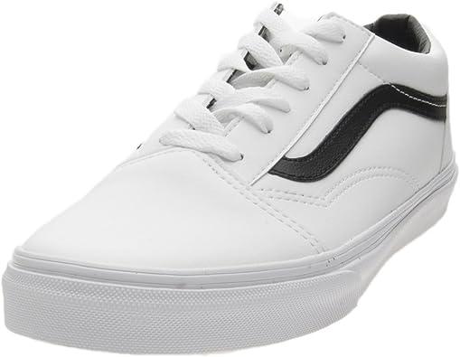 Vans VN0A38HBPX0, Damen Sneaker Weiß weiß schwarz, Weiß