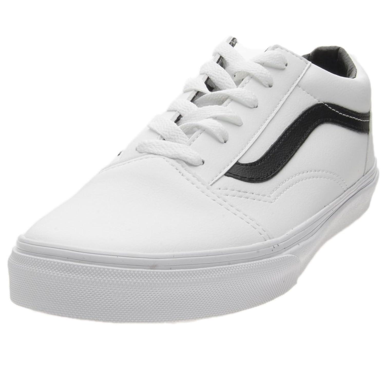 Vans VN0A38HBPX0 - Zapatillas de Piel para Mujer Blanco Blanco/Negro 36.5 EU