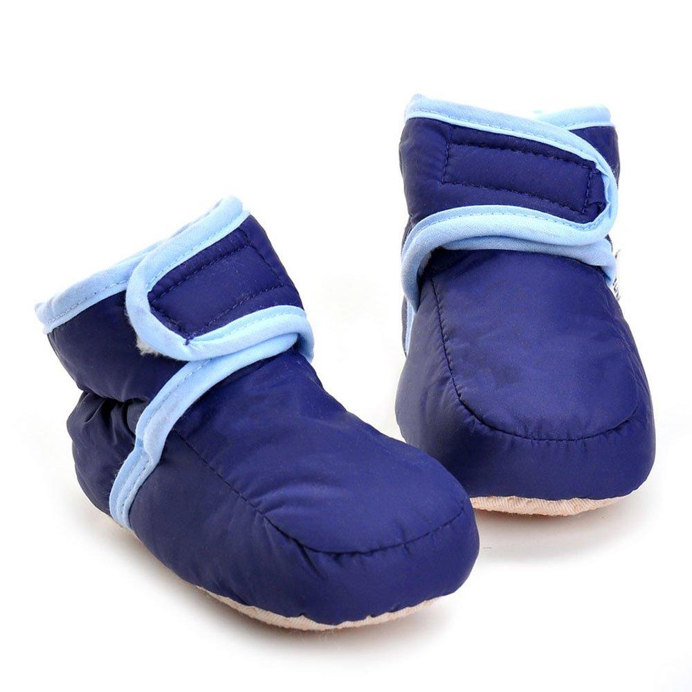 Enteer Infant Snow Boots Premium Soft Sole Anti-Slip Warm Winter Prewalker Toddler Boots