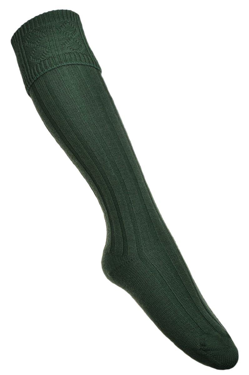WB Socks Men's Lovat Green Kilt Hose W Brewin