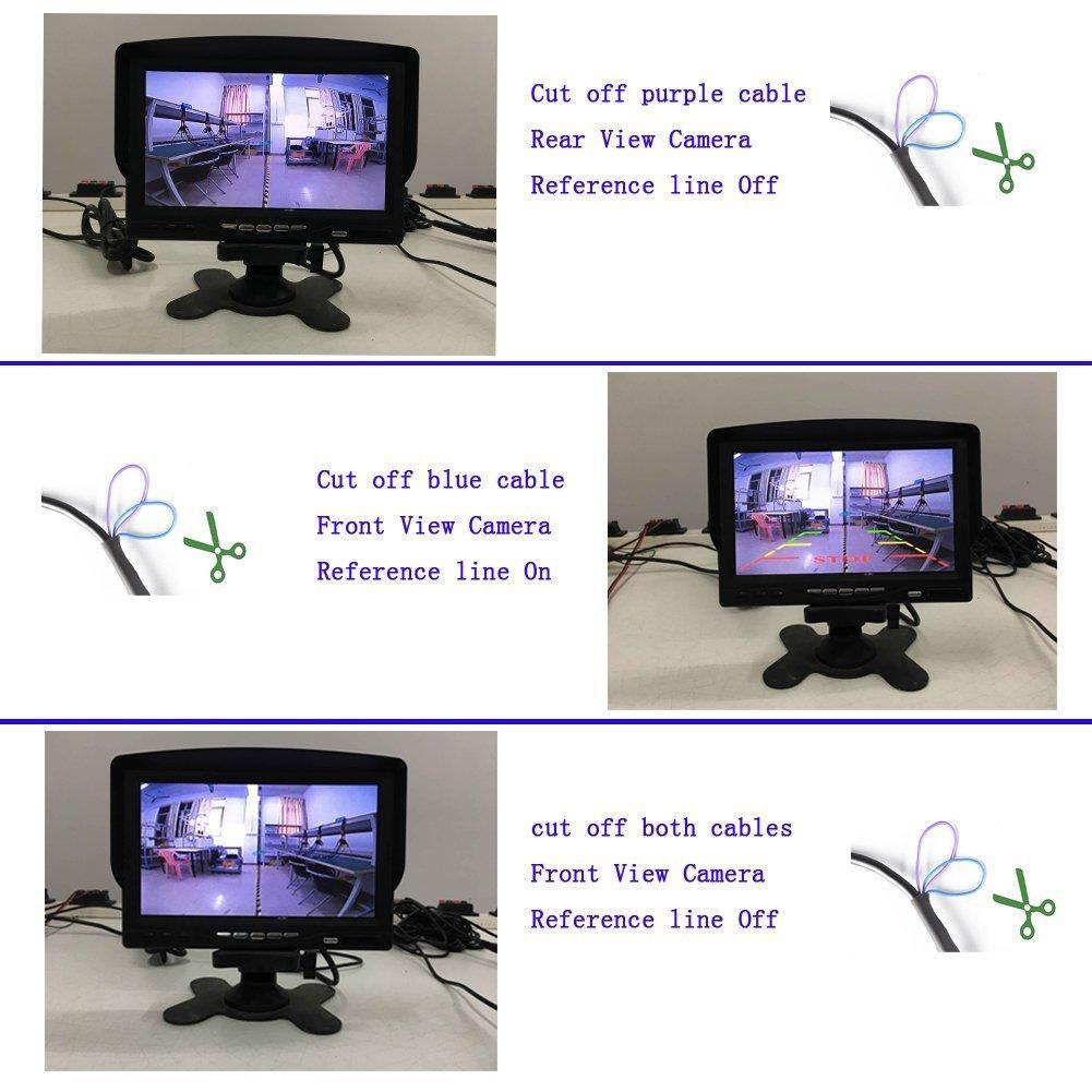 504 Pixel R/ückfahrsystem R/ückfahrkamera 170/° Winkel wasserdicht Nachtsicht Auto R/ückansicht Kamera Einparkhilfe 756 XL-96913 Schwarz