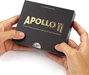 The Apollo 11 Flipbook Edition - 2 flip Books Featuring NASA's First Moon Landing. with Augmented Reality 3D Saturn V Rocket and Lunar Module