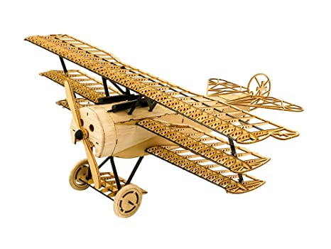 3d Assembly Puzzle Diy Fokker Dr1 Model Plane Wooden Craft Kit Laser Cut Balsa Airplane Kits To Build For Adults Creative Brain Teaser Jigsaw