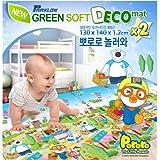 Parklon Green Soft Deco Playmat-Pororo Come to play Large size (260/130x2x140x1.2cm) Twin x2 pcs by Parklon