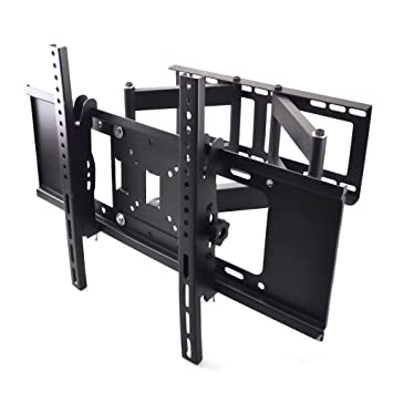 sunydeal soporte de pared universal para tv doble brazo orientable e inclinable para televisores
