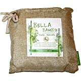 Bella Bambu Activated Bamboo Charcoal Bag – 100% Natural Air Freshener, Purifier, Deodorizer, and Odor Absorber for The Home, Office, car, and More. 250 Grams (purifies up to 100 Square feet) Beige