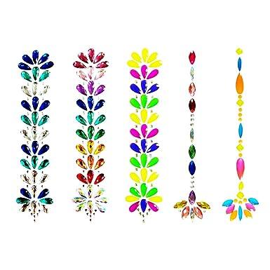 Fascigirl 5 hojas Tatuaje de diamantes de imitacion Tatuaje del ...