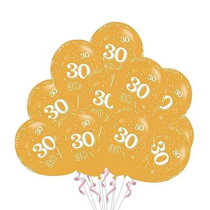 Toyvian 50 Piezas 30 Aniversario Fiesta de cumpleaños Globo ...