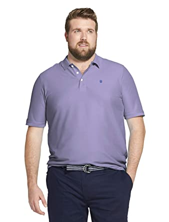 d8580e8a Amazon.com: IZOD Men's Big and Tall Advantage Performance Short Sleeve  Solid Heather Polo: Clothing