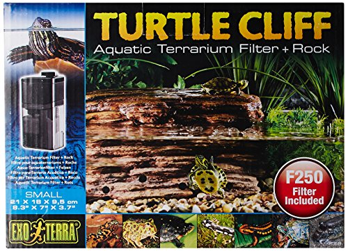 Reptile Filter - Exo Terra Turtle Cliff Aquatic Terrarium Filter/Rock, Small