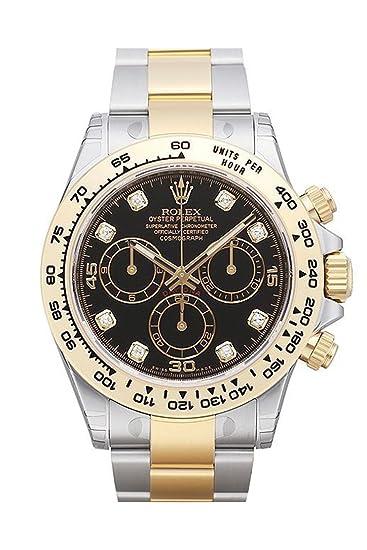 Rolex Cosmograph Daytona negro diamante Dial Acero 18 K Amarillo Oro Hombres del reloj 116503