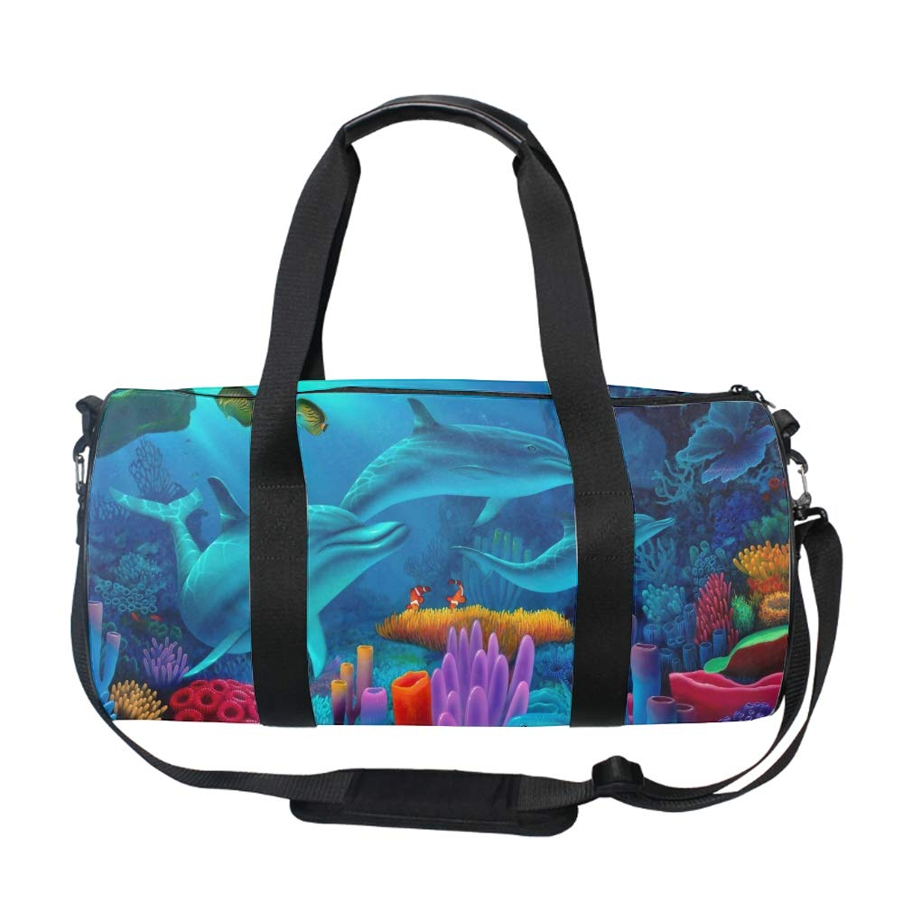 Watercolor Tropical Flamingos Womens Weekender Duffel Bag