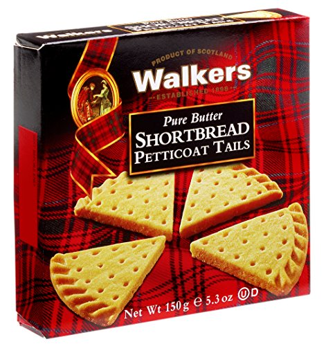 Custom Chocolate Edible Box - Walkers Shortbread Petticoat Tails, 5.3-Ounce Boxes (Pack of 6)