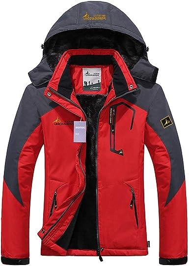 Alomoc 3 in 1 Hiking Jacket Outdoor Waterproof Softshell Raincoat Snowboard Clothing