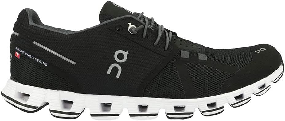 ON Running Womens Cloud Black/White Running Shoe - 6.5