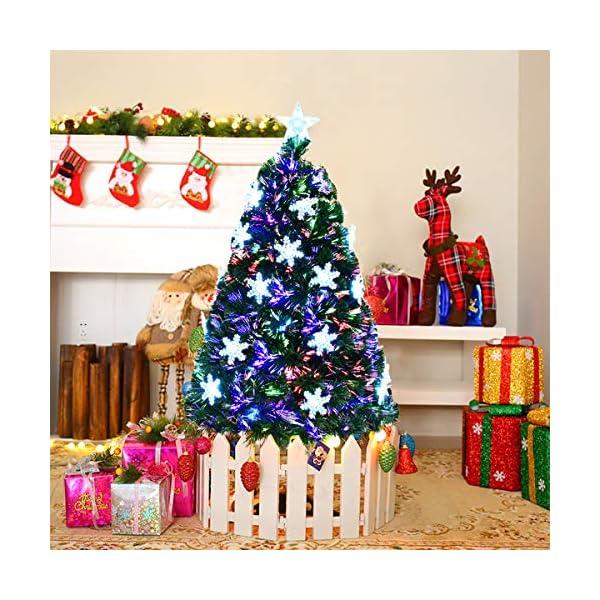 Goplus-Artificial-Christmas-Tree-Pre-Lit-Fiber-Optic-Premium-Spruce-Hinged-Tree-WUL-Certified-Multicolored-LED-Lights-Metal-Stand