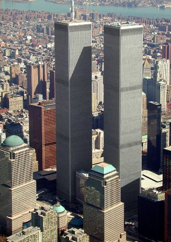 New York City Twin Tower - The World Trade Center Twin Towers Photo New York City NYC Architecture Photos 8x12