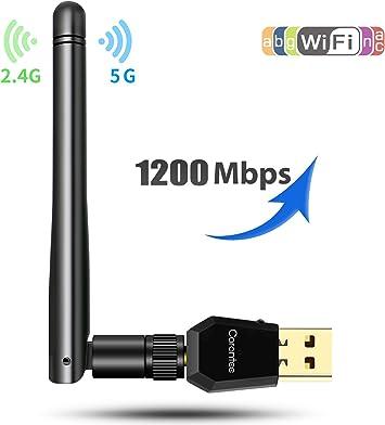 Amazon.com: Adaptador WiFi USB inalámbrico – carantee ...