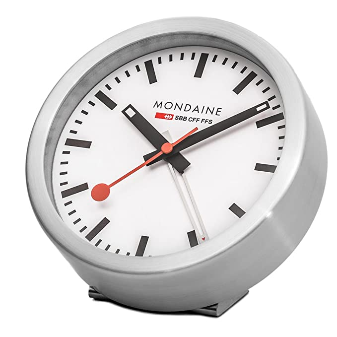 Amazon.com: Mondaine Wall & Desk Aluminum Case Clock A997.MCAL.16SBB 125mm: Home & Kitchen