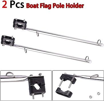xnbnsj - Soporte para mástil de bandera de barco con 14 rieles y abrazaderas de plástico para rieles de 7/8-1, accesorios para barcos: Amazon.es: Deportes y aire libre