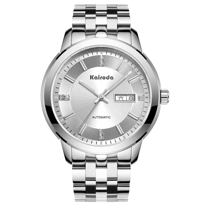 Automatische mechanische Uhren-Mode leuchtende Uhr-Wasserdicht dual Kalender Herrenuhr-B