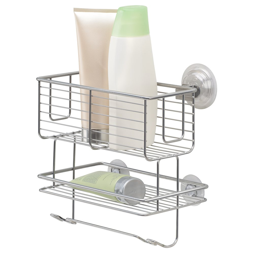 Shower Caddy Hanging Corner Suction Cups Stainless Steel Mesh ...