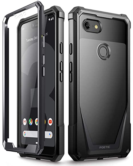 huge selection of ff34c 0dc34 Google Pixel 3 XL Case, Poetic Guardian [Scratch Resistant Back] Full-Body  Rugged Clear Hybrid Bumper Case with Built-in-Screen Protector for Google  ...
