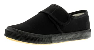 6bc97ec2a563 Wynsors Childrens Black Touch Fasten School Pumps (Please Note Sizes 5-3) -