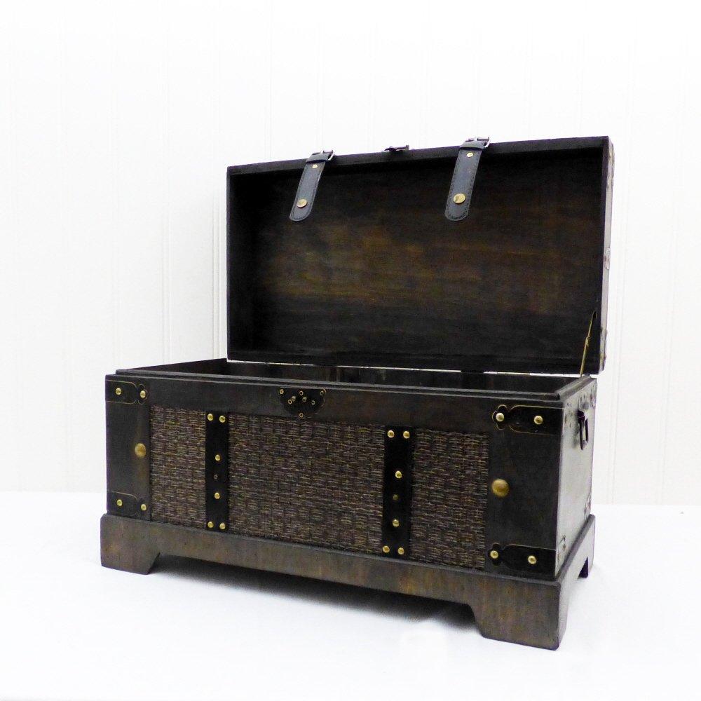 'Atlantis' Wooden Large Decorative Storage Trunk Chest - Gift ideas for Mum, Mothers Day, Christmas, Birthday, Toy Box, Blanket Box, Memory Box, Keepsake Fine Gifts UK