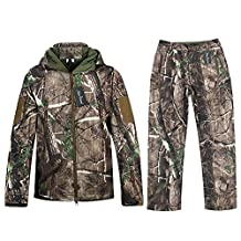 Camo Jacket or Pants Waterproof Hunting Camouflage Hoodie Military Jacket for Unisex