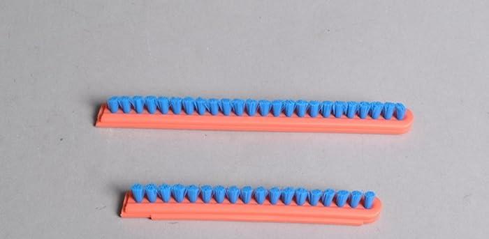 Eureka Sanitaire Brush Roll Bristle Strip Inserts Orange Blue 2 Pk Part # 52282a-4