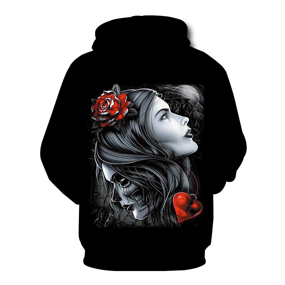 727a9a315 Amazon.com: Unisex 3D Print Funny Creative Graphic Pullover Beauty Devil:  Clothing