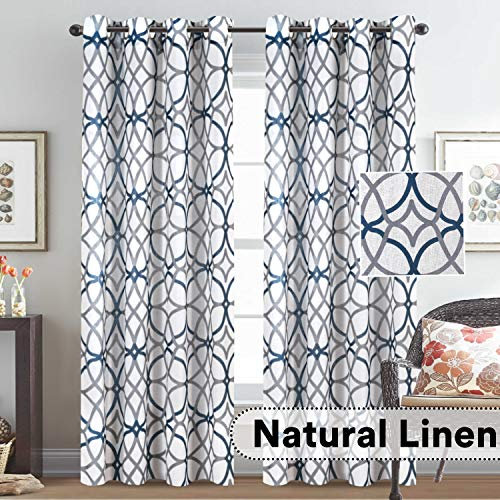 H.VERSAILTEX Natural Linen Blended Airy Curtains for Living