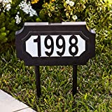 BrylaneHome Solar Light House Number Plaque - Black